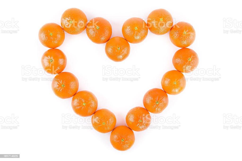 tangerine heart stock photo