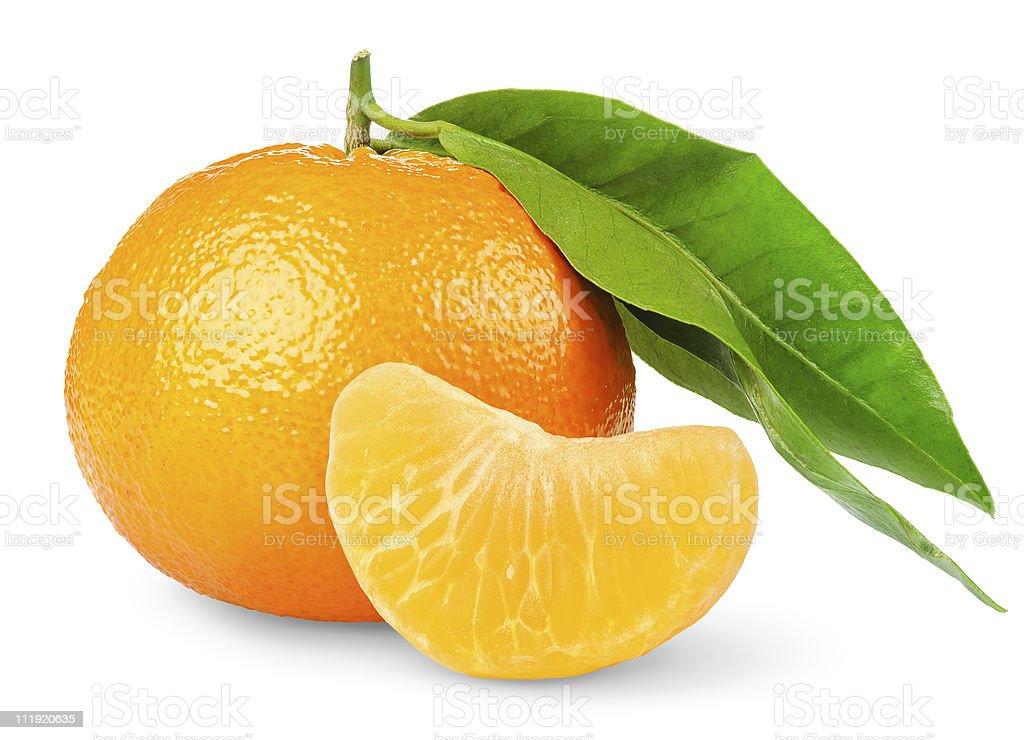 Tangerine isolated on white stock photo