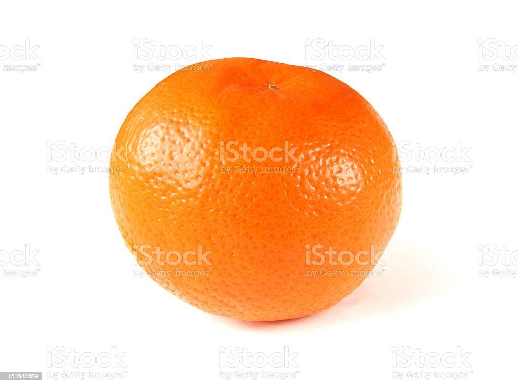 tangerine isolated royalty-free stock photo