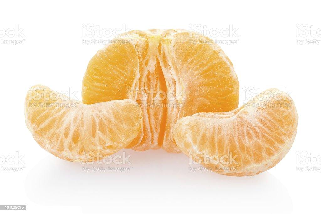 Tangerine or mandarin half with segments royalty-free stock photo
