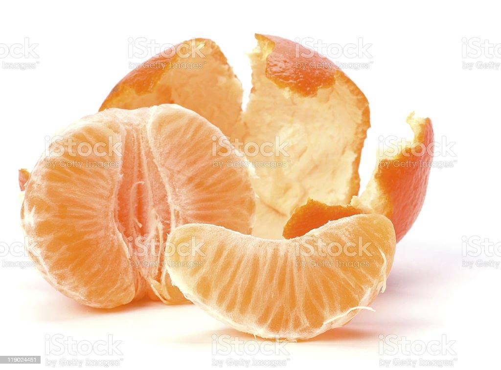 Tangerine segments royalty-free stock photo