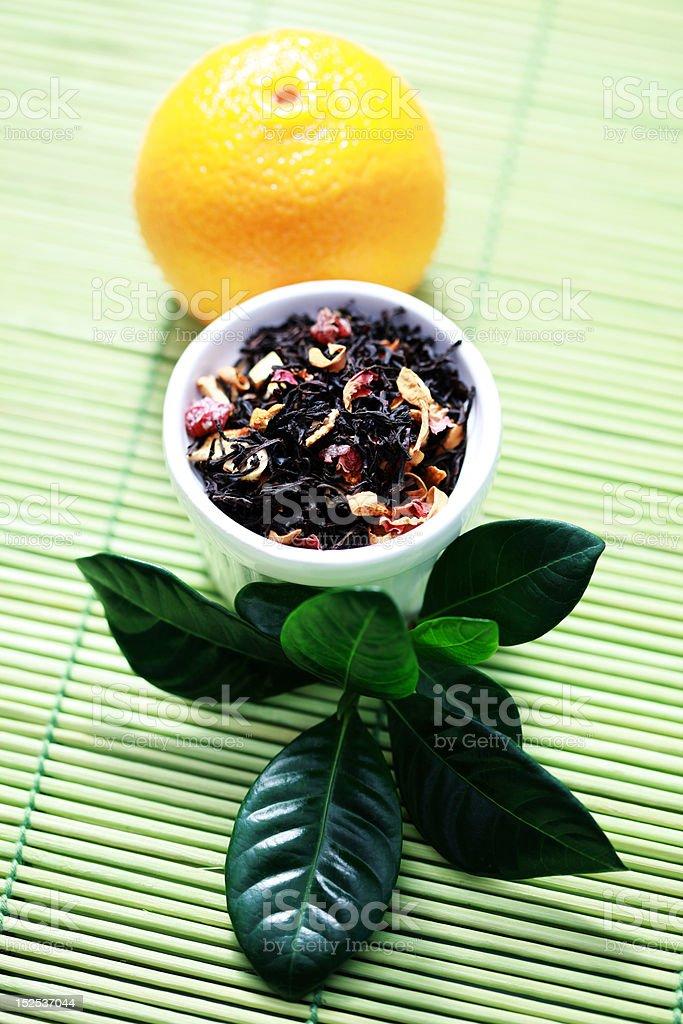 tangerine tea royalty-free stock photo