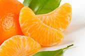 tangerine with separated segments