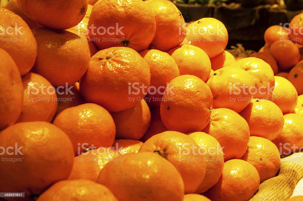 Tangerines and oranges royalty-free stock photo