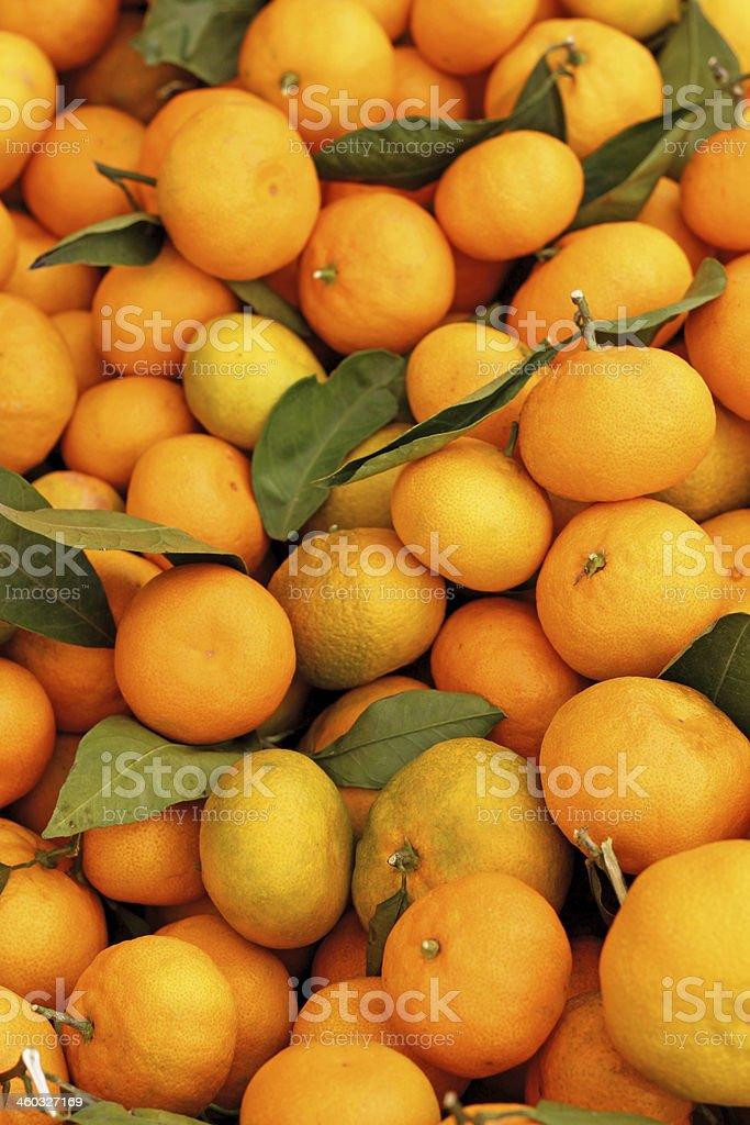 Tangerines Background stock photo