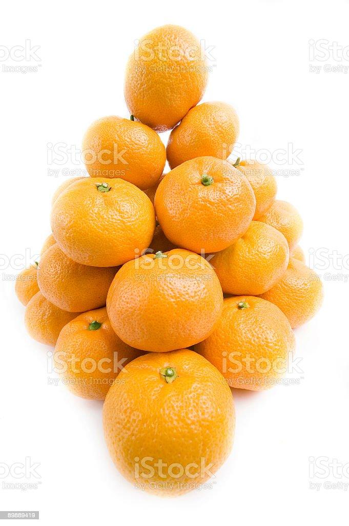tangerines formando Piramide foto stock royalty-free