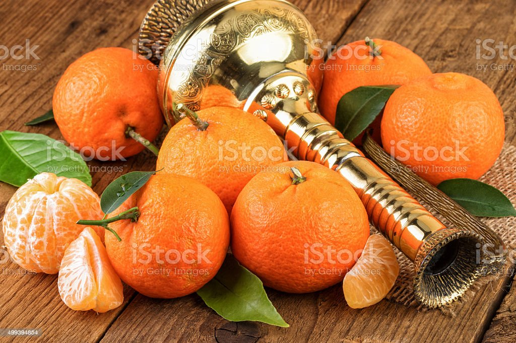 Tangerines Fruits Oriental East Still Life stock photo