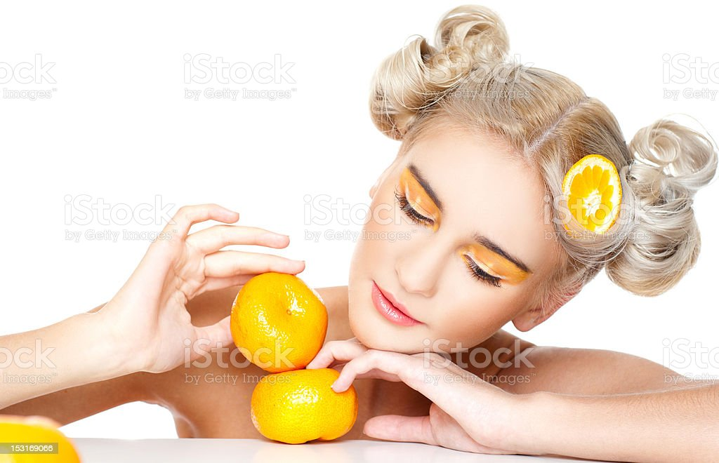 tangerines royalty-free stock photo
