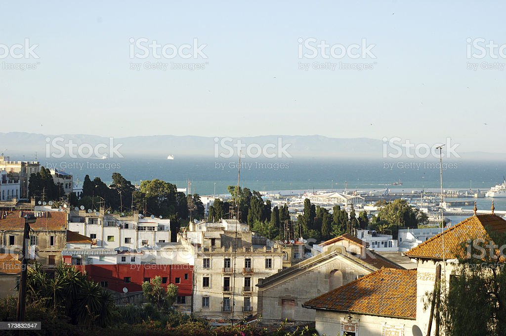 Tangier and the Gibraltar Strait stock photo