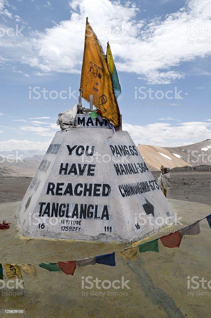 Tanglang La on Leh Manali Highway Ladakh India royalty-free stock photo
