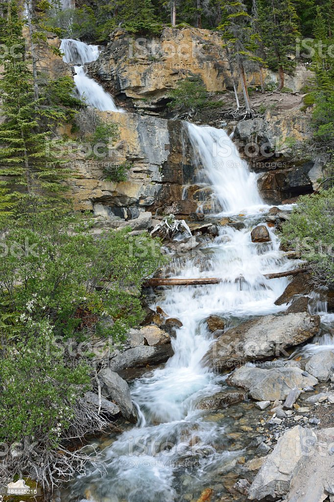 Tangle Falls by Icefields Parkway stock photo