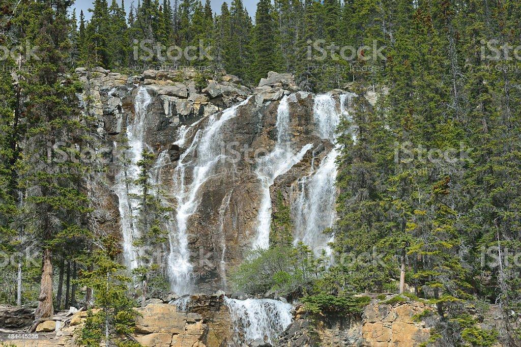 Tangle Falls in Jasper National Park stock photo