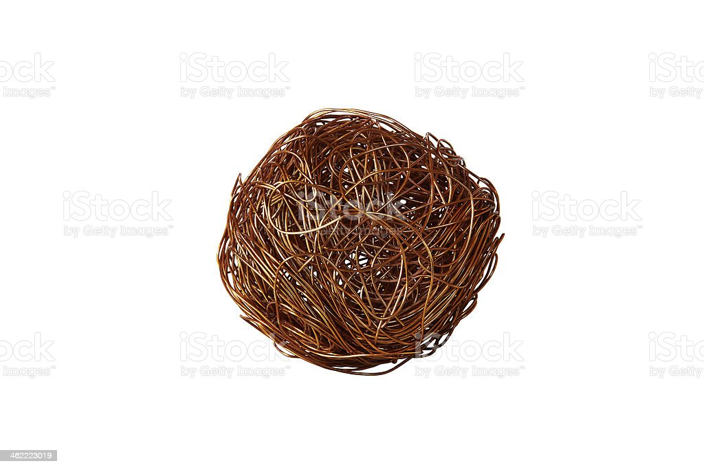 tangle of copper wire royalty-free stock photo