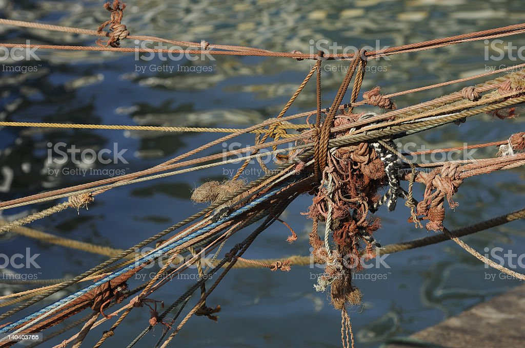 tangle of rope royalty-free stock photo