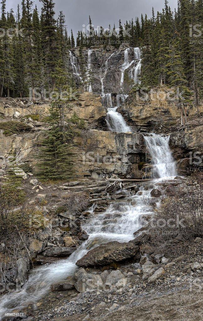 Tangle Waterfall Alberta Canada stock photo