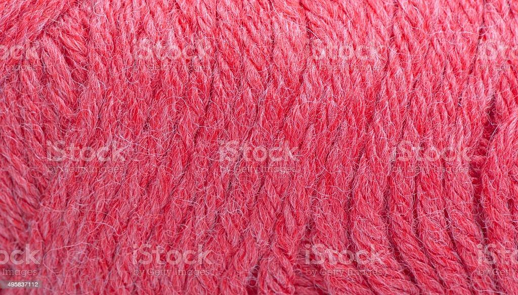 Tangle wool yarn closeup stock photo