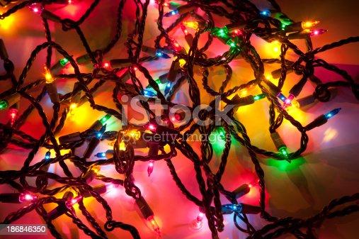 tangled christmas lights stock photo 186846350 istock - Tangled Christmas Lights