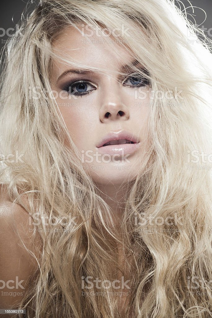 Tangled hair royalty-free stock photo