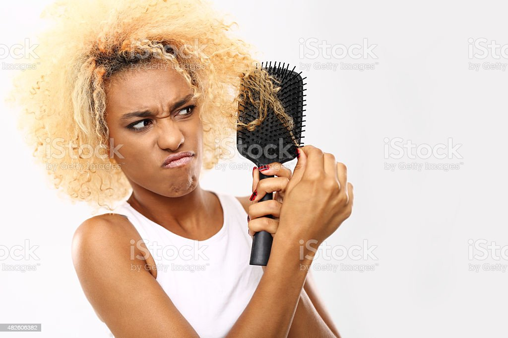 Tangled hair stock photo