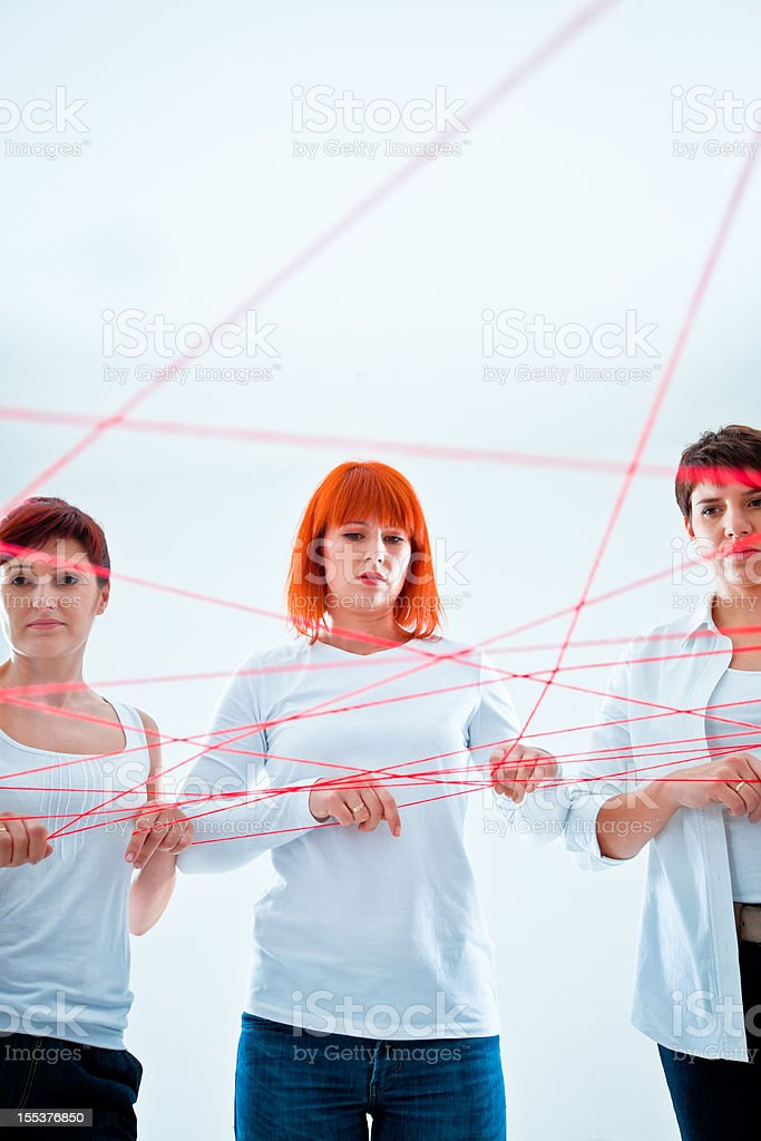 Tangled in the network royalty-free stock photo