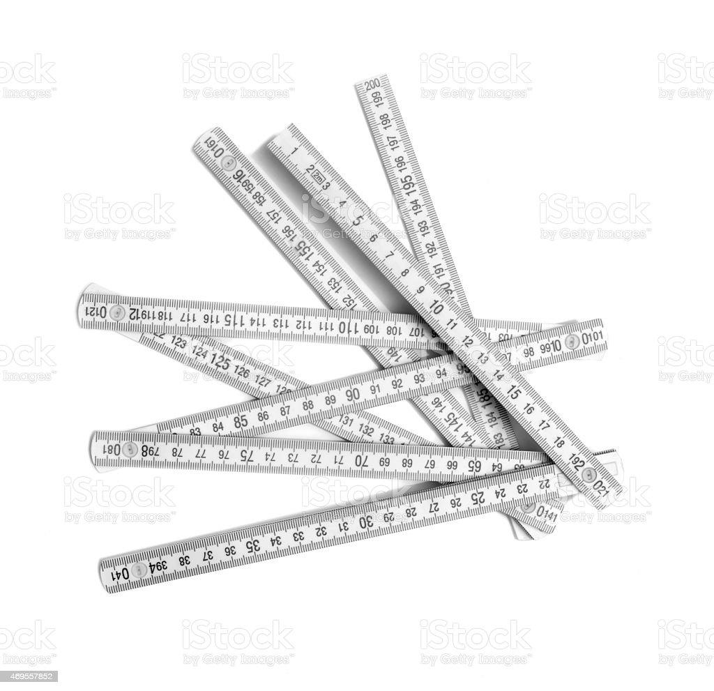 Tangled ruler stock photo
