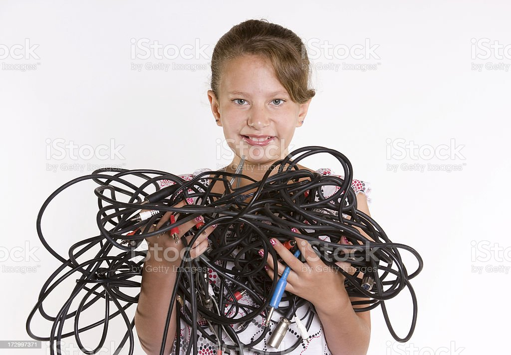 Tangled Up in Cables royalty-free stock photo