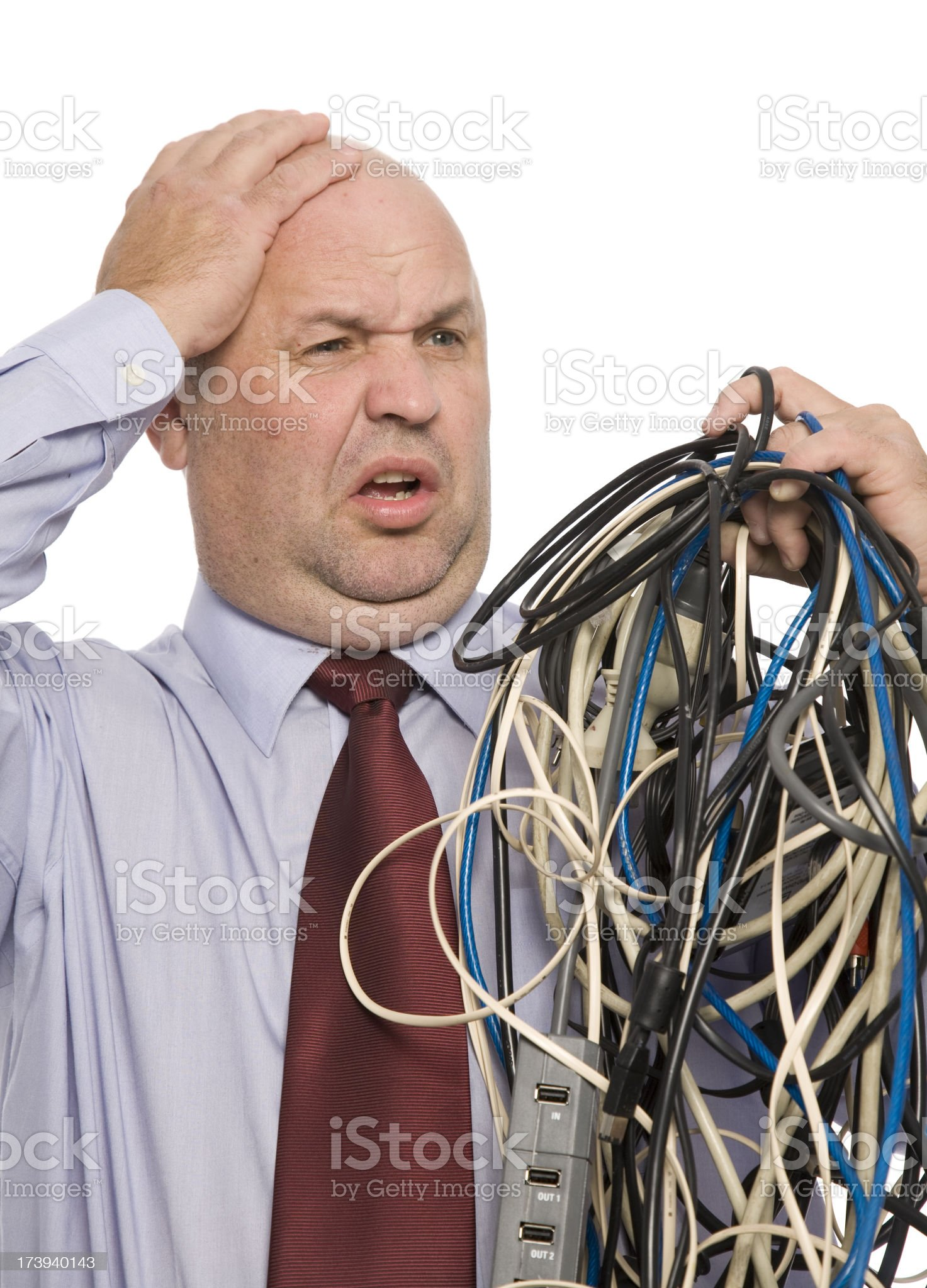 Tangled Wire Frustration royalty-free stock photo