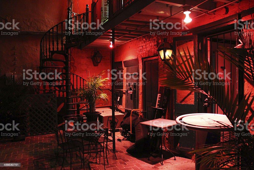 Tango bar in Cuba at night stock photo
