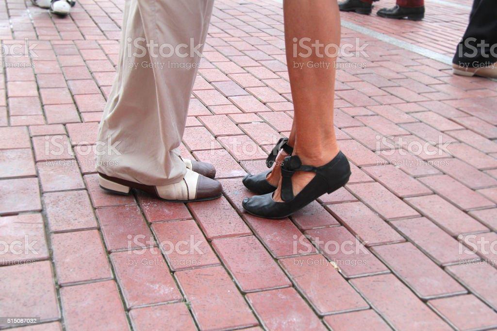 tango class stock photo