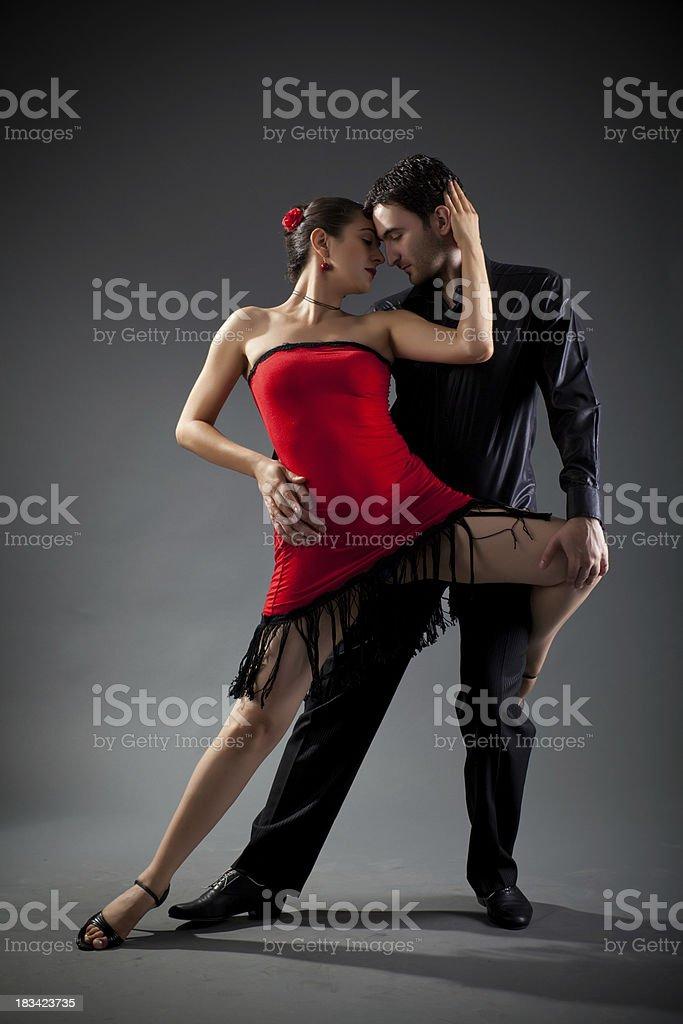 Tango couple royalty-free stock photo