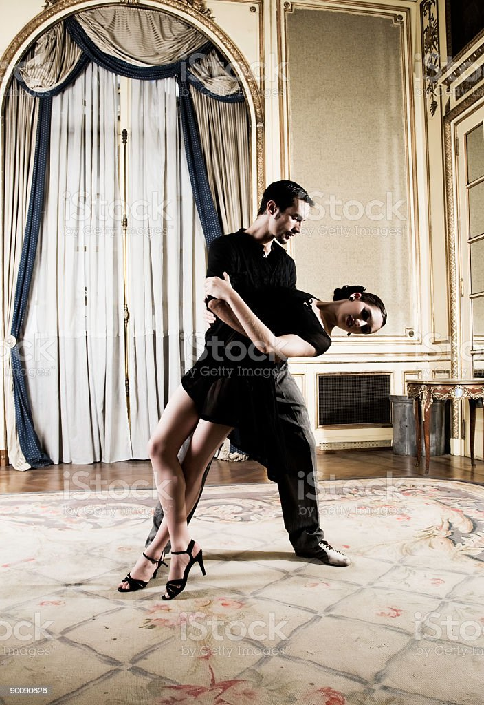 Tango Dancers royalty-free stock photo