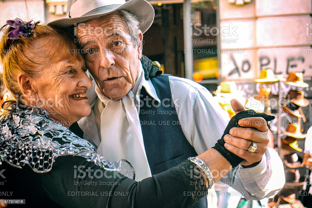 Tango Dancers - Pochi and Osvaldo stock photo
