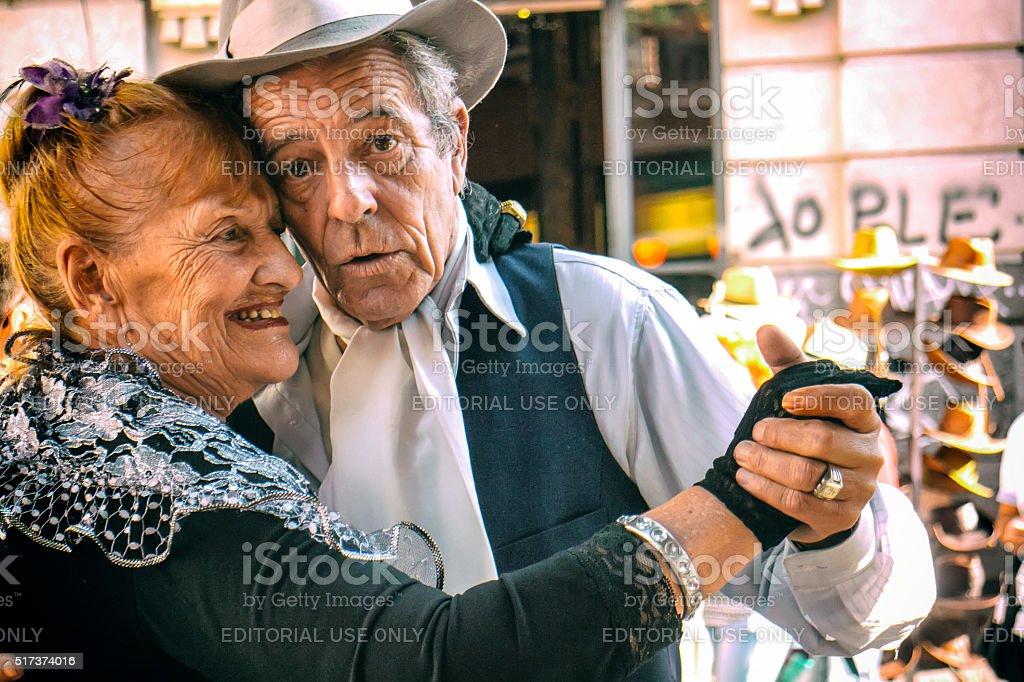 Tango Dancers - Pochi and Osvaldo stock photo