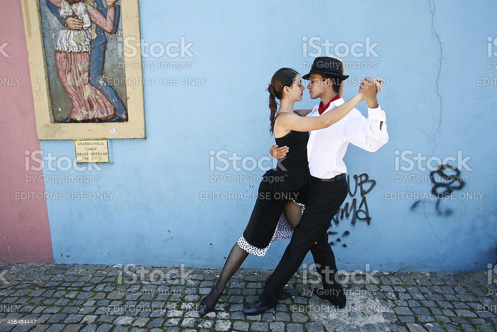 Tango in La Boca, Buenos Aires, Argentina stock photo