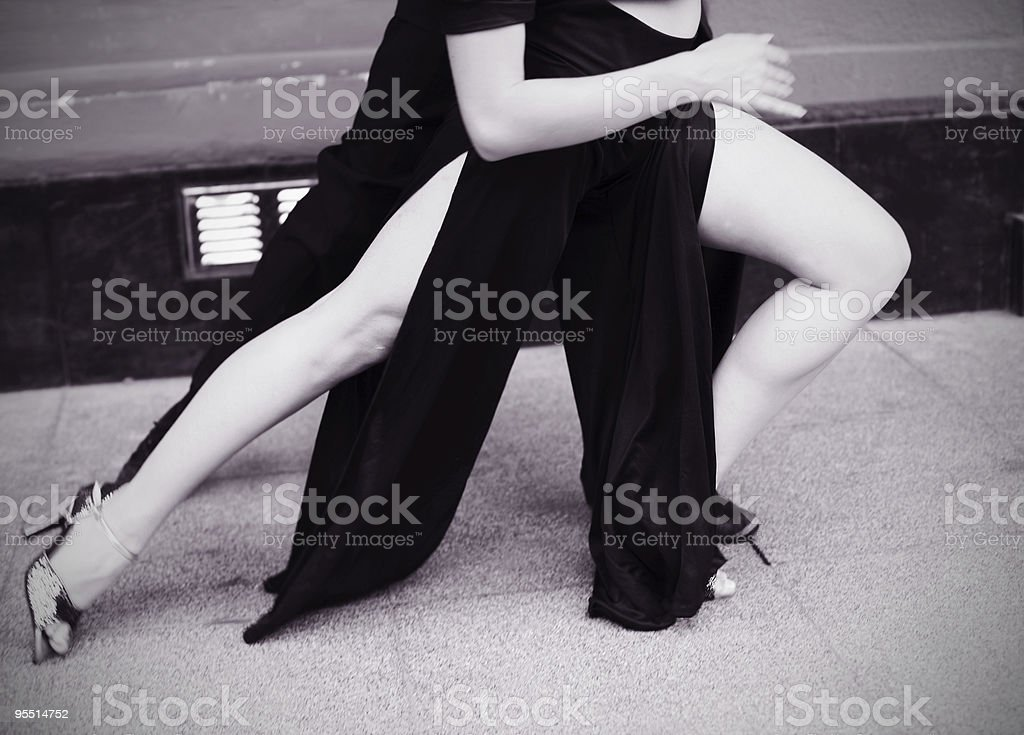 Tango Steps royalty-free stock photo