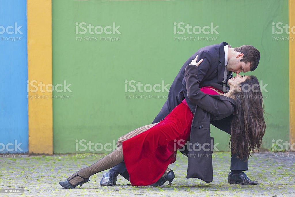Tangoing couple stock photo