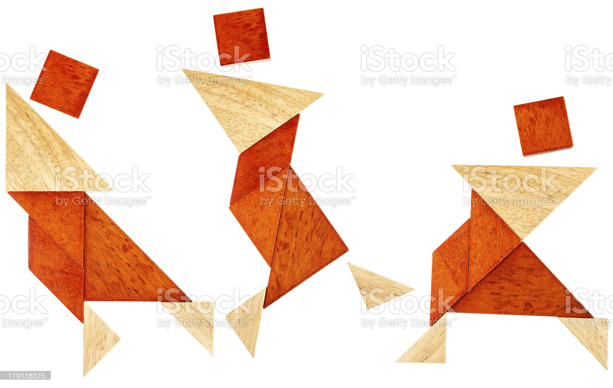 tangram dancer or martial fighter royalty-free stock photo