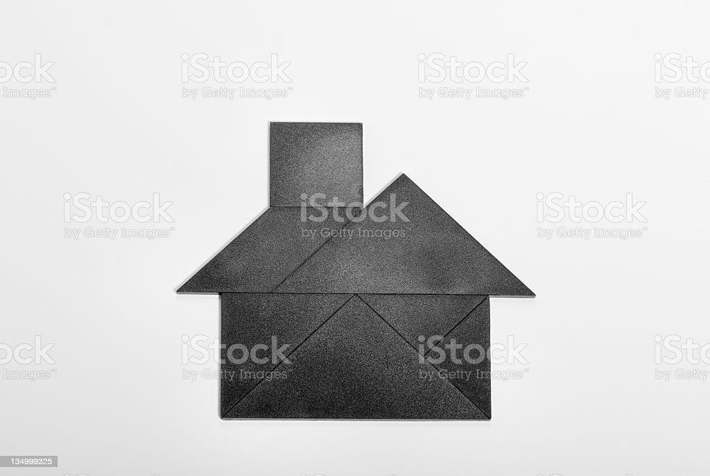 Tangram house royalty-free stock photo
