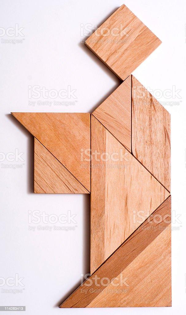Tangram Puzzle Figure: Servant stock photo