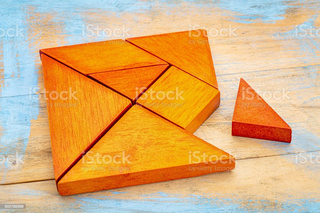 tangram puzzle stock photo