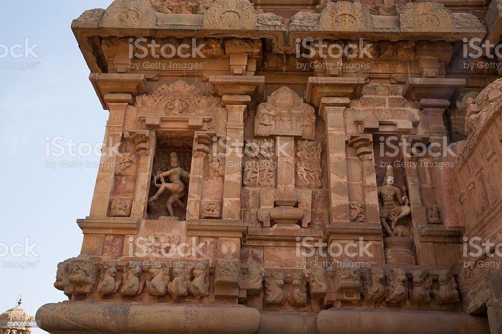 Tanjore temple Tami Nadu India stock photo