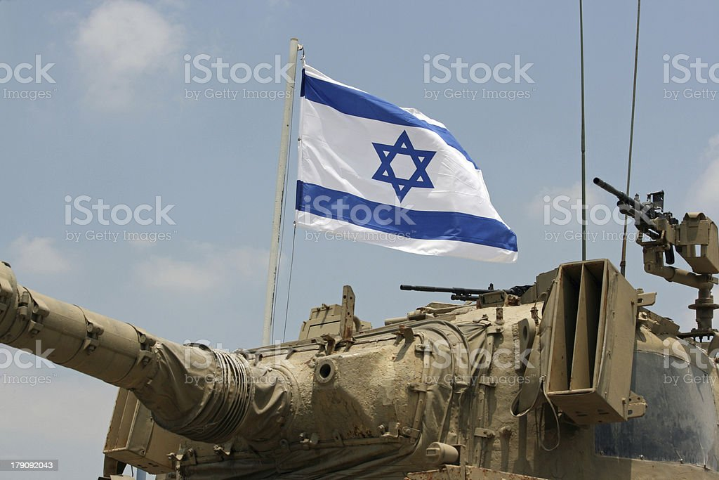 Tank and Flag stock photo