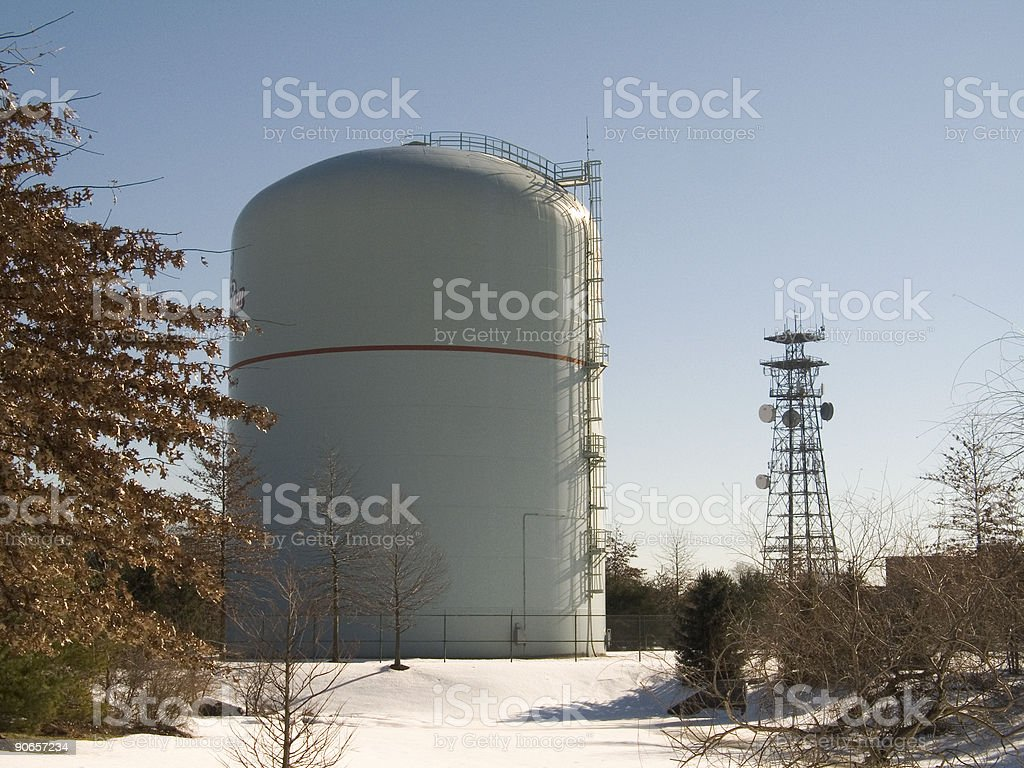 Tank and Tower royalty-free stock photo