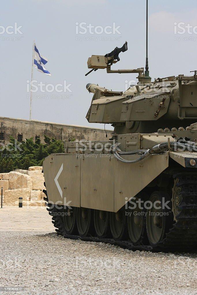 Tank at Latrun stock photo