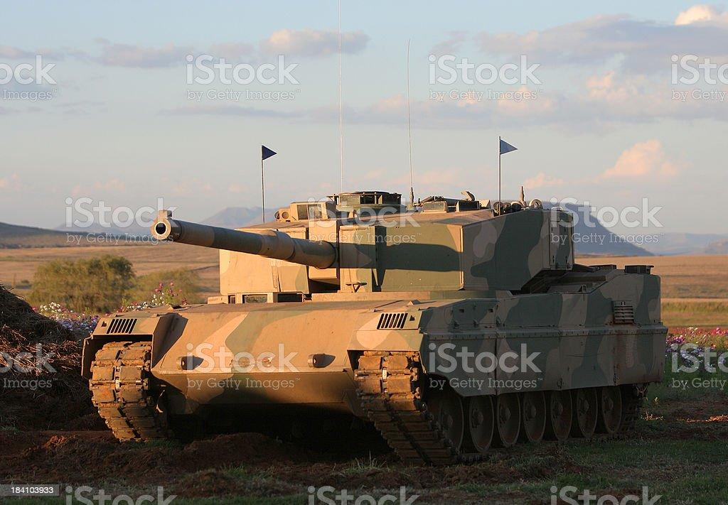 Tank at  Sunset stock photo
