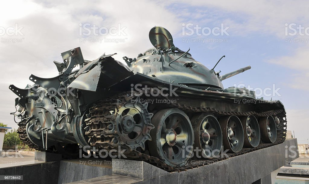 Tank at War Memorial, Massawa, Eritrea stock photo