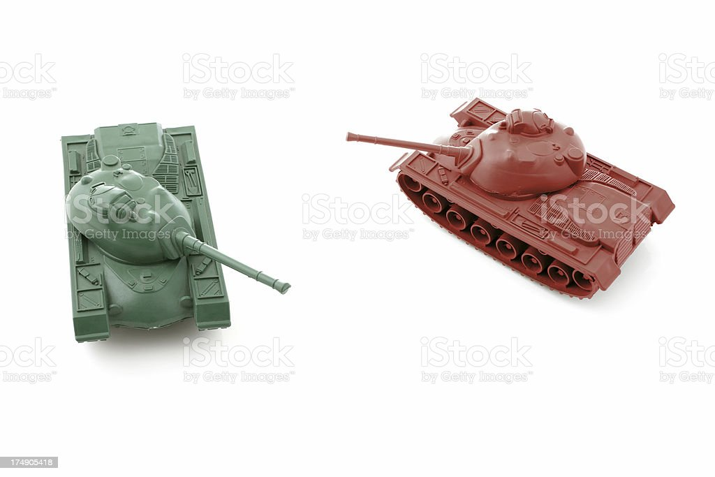 Tank Battle stock photo