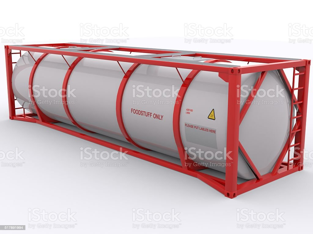 Tank Container for Food Stuff stock photo
