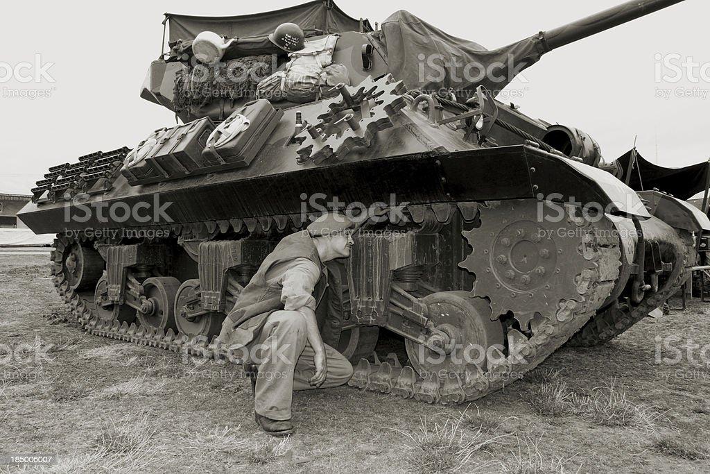 Tank driver. royalty-free stock photo