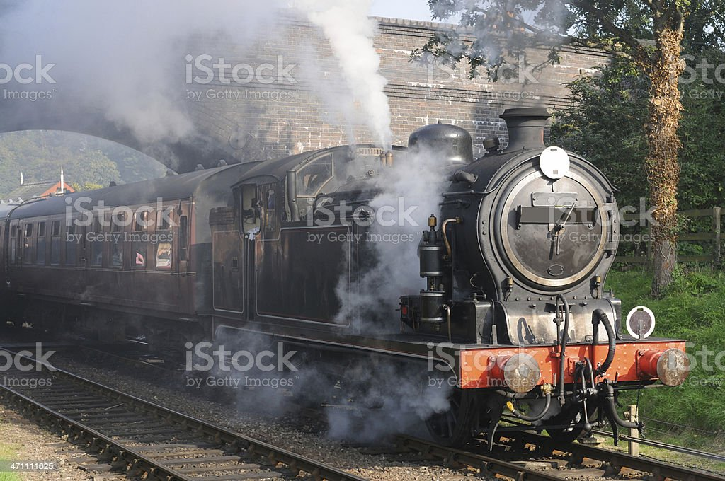 Tank Engine in Steam royalty-free stock photo